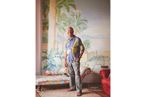 A picture of Kaffe Fassett in his Hastings home