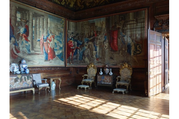 The State Drawing Room houses the Mortlake tapestries