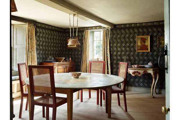 The dining room of the Charleston Farmhouse