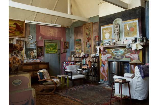 The studio of the Charleston Farmhouse