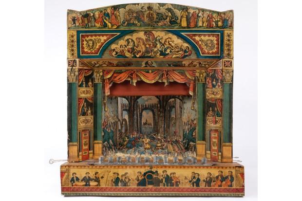 An antique toy theatre