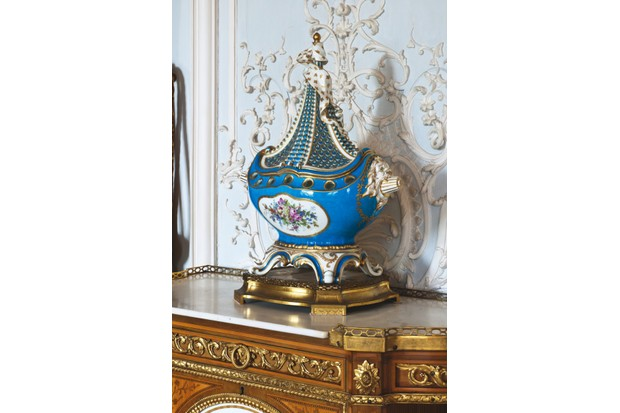 A rare Sèvres vase in the shape of a ship