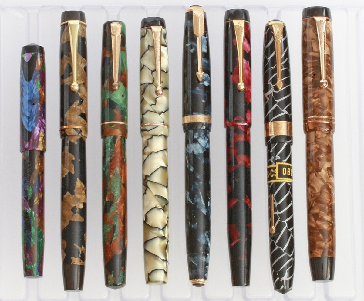 A collection of antique pens