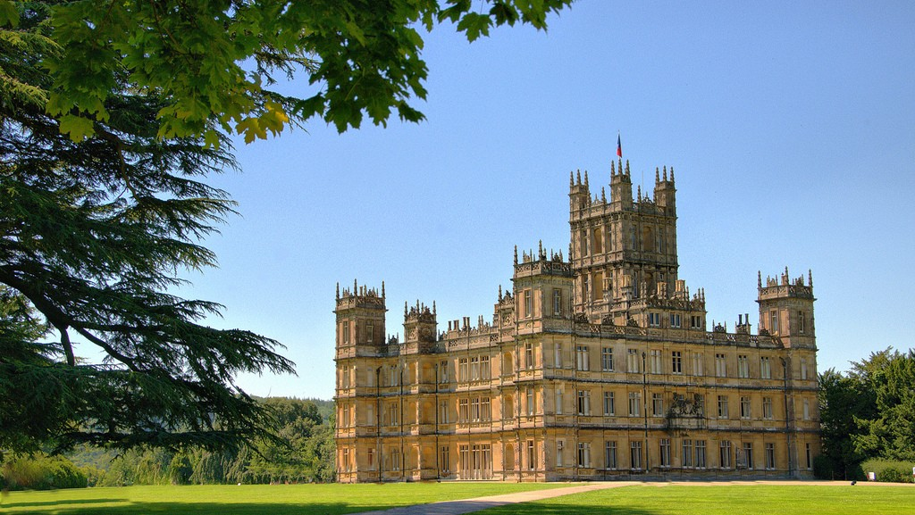 Highclere Castle in the sunshine