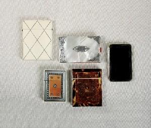 Antique calling card cases