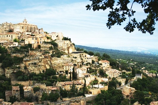 A hill top village in the South of France
