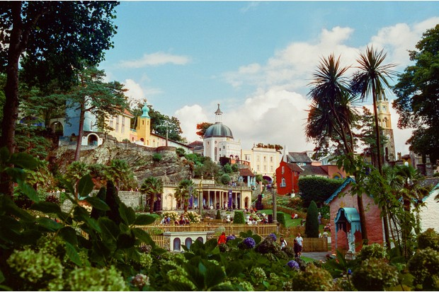 A view over Festival Number 6 at Portmeirion
