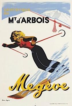 A vintage poster for the ski resort Mont d'Arbois
