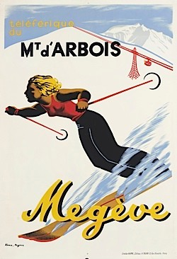 A vintage poster for the ski resort Mont d'Arbois