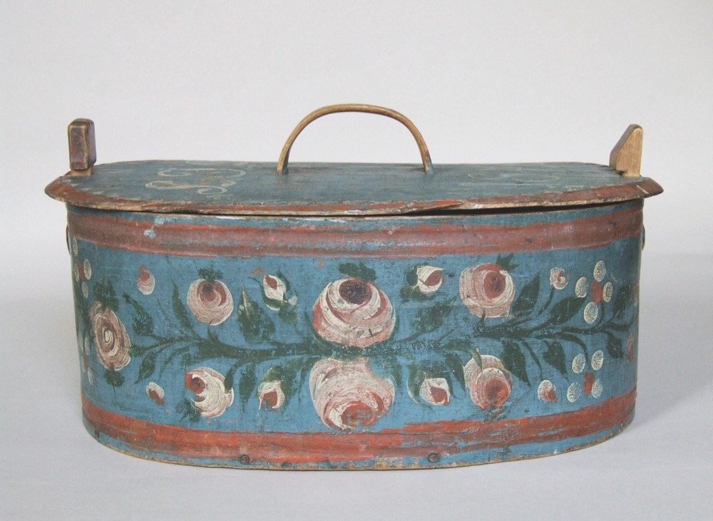 Swedish painted folk art box