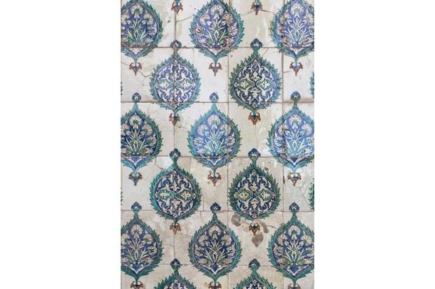 Tiles at Topkapi Palace, Istanbul, Turkey