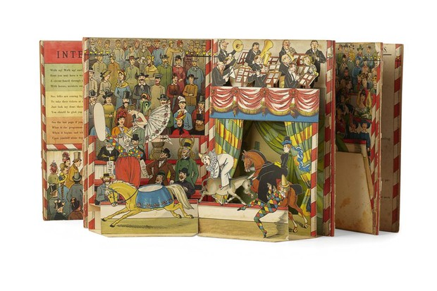 A colourful antique circus pop-up book that recently sold at auction