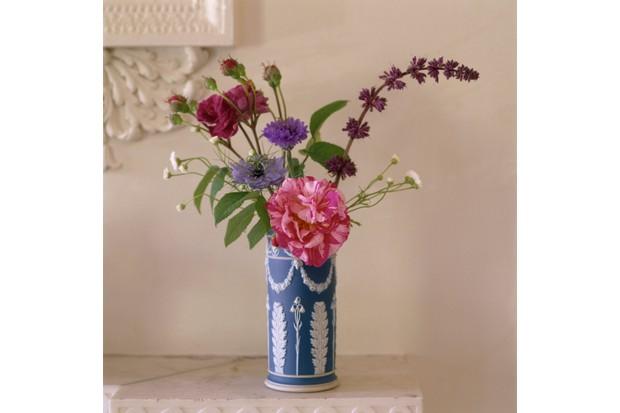Detail of Wedgewood Jasperware vase at Osterley Park & House, Middlesex
