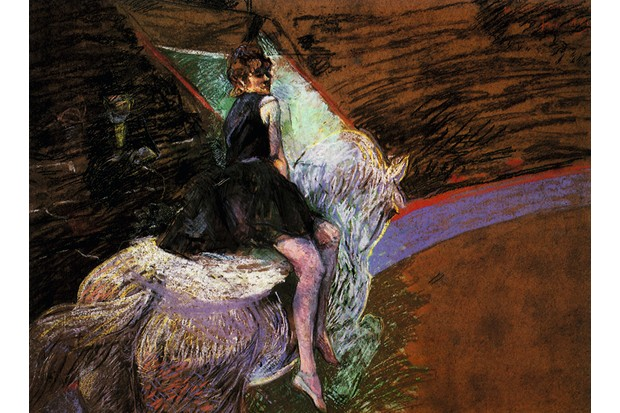 At the Circus Fernando, Rider on a White Horse, Toulouse-Lautrec, Henri de, 1888 . (Photo by: Picturenow/UIG via Getty Images)