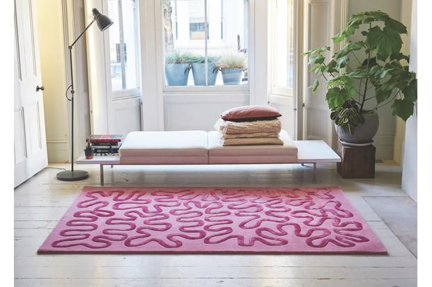 Wiggle by Zandra Rhodes New Zealand wool rug, from 150cm by 230cm, £1,500, Floor Story.