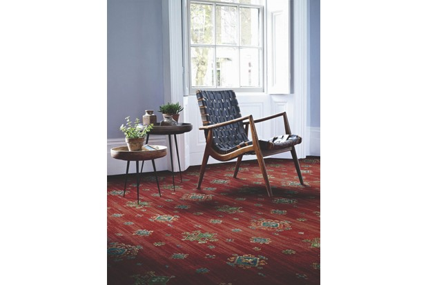 Khali Fire 80 per cent wool, 20 per cent nylon broadloom carpet, from £89.99 per sq m, Renaissance Classics by Brintons.