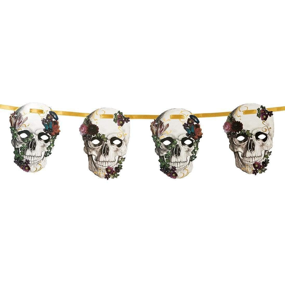 A floral paper Baroque Skeleton Skull Garland, £5.83, from Talking Tables