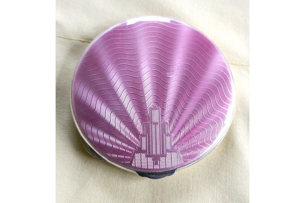 Pink Art Deco Compact