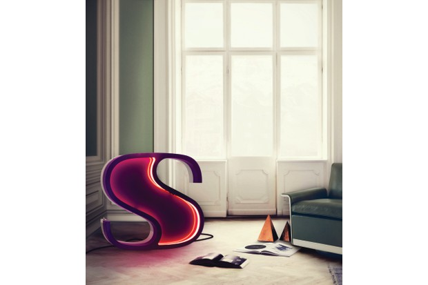 Letter 'S' graphic lamp, €3,170 (approx £2,840), Delightfull.