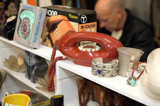 A vintage telephone at Whitstable Seaside Brocante