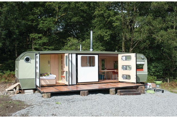 George Clarke's Caravan Conversion, Coniston. 9 September 2012.