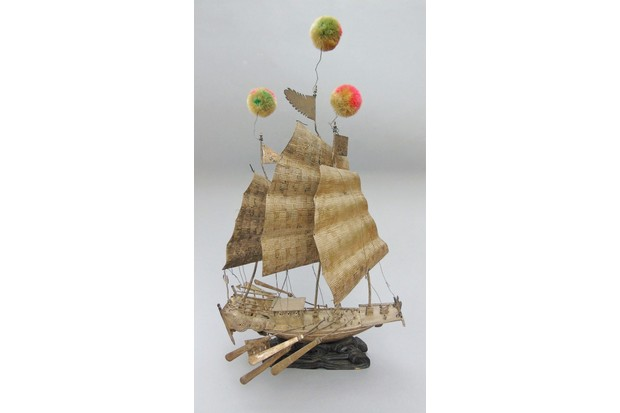 Antique Chinese Sailing Junk c.1910