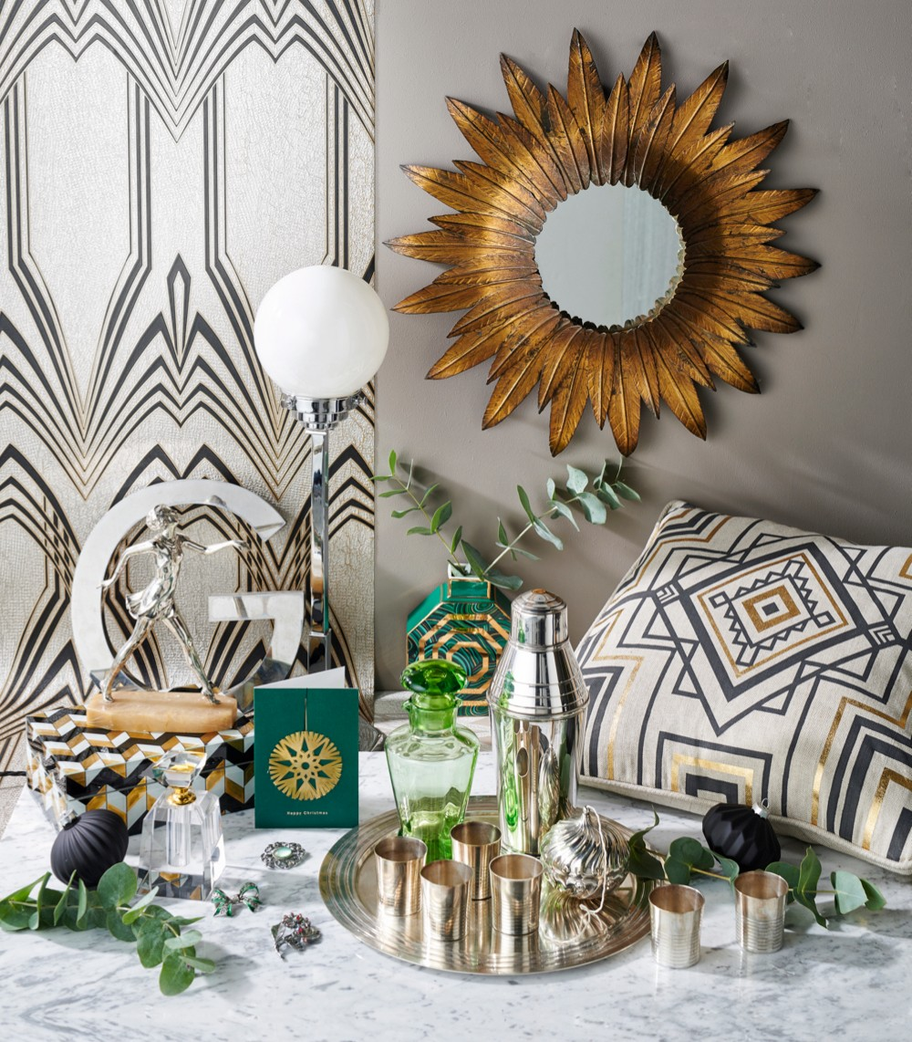 A selection of Art Deco inspired pieces for an interior wishlisht