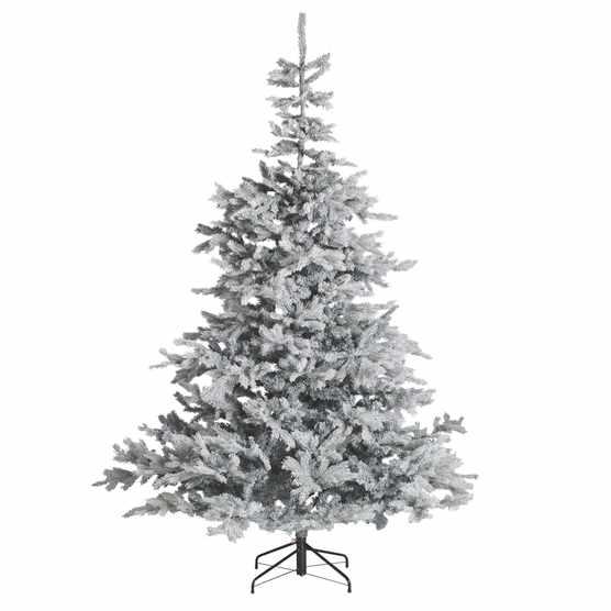 John Lewis & Partners Jet Isla Diamond Frost Pre-lit Christmas Tree, 7ft, £249