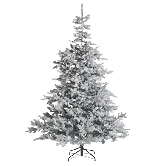 John Lewis & Partners Jet Isla Diamond Frost Pre-lit Christmas Tree, 7ft, £249