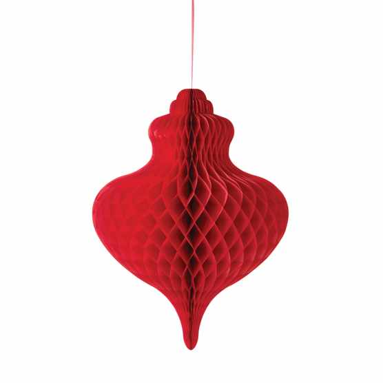 Talking Tables Decadent Decs Giant bauble decoration in Red