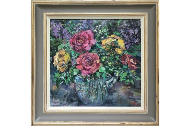 Roses and Lilac by Laura Wallace
