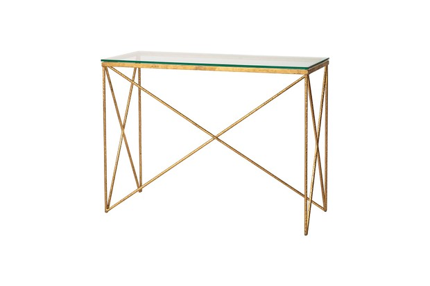 Oliver Bonas gold Luxe Console Table
