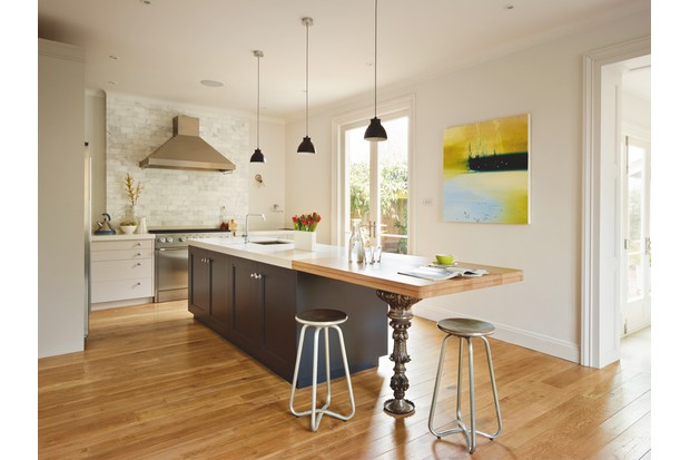 This classic kitchen with a contemporary twist has been designed by Woodstock Furniture and costs from £35,000.