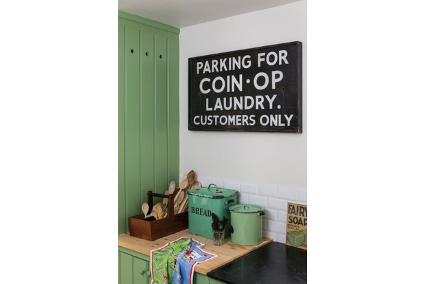 RE often has a good selection of vintage advertising signs, from £80 to £200.