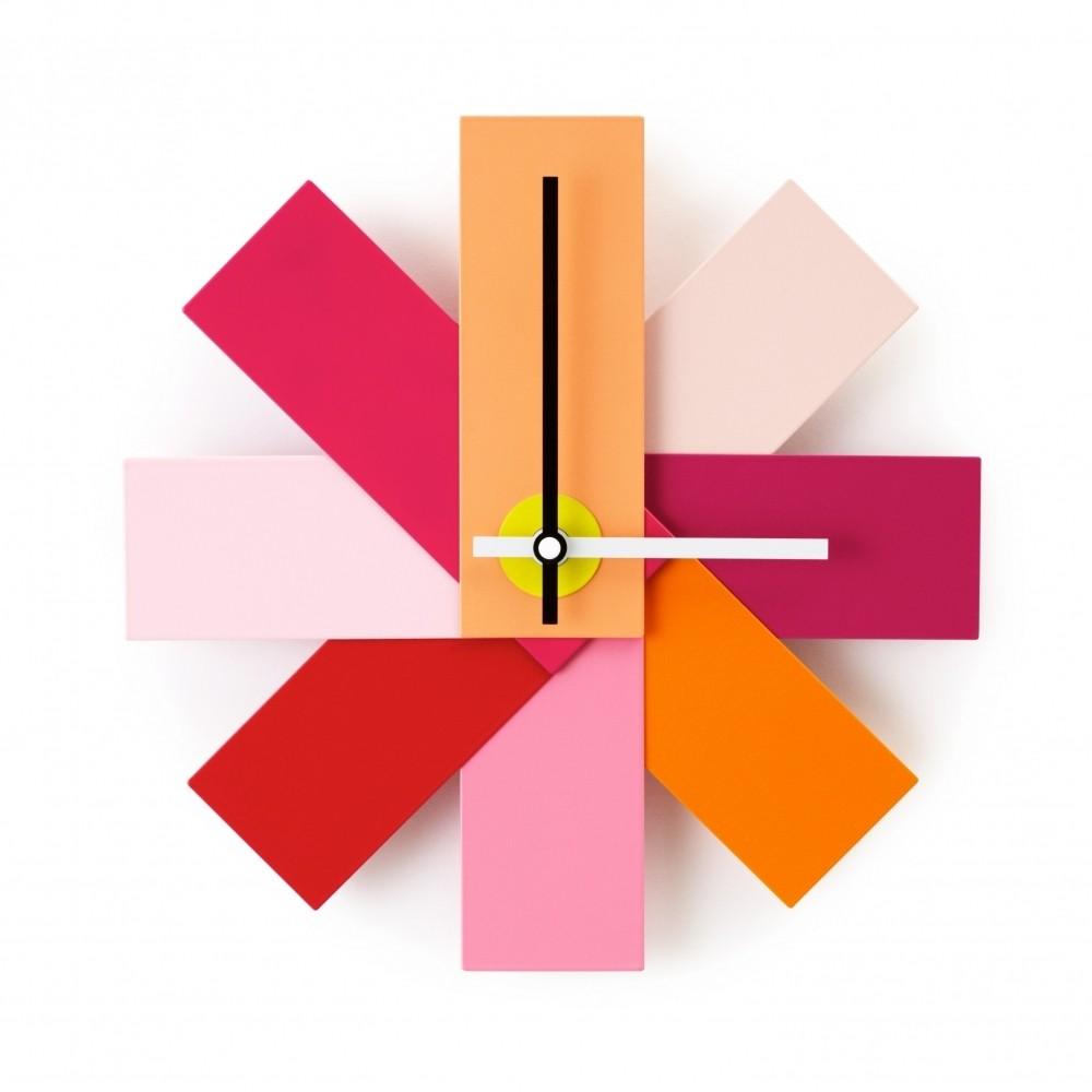 Normann Copenhagen Watch Me Modern Designer Pink Wall Clock