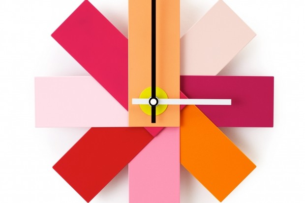 Normann Copenhagen Watch Me Modern Designer Pink Wall Clock