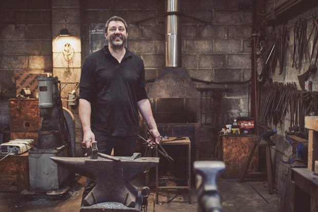 Alex Pole in his Somerset forge
