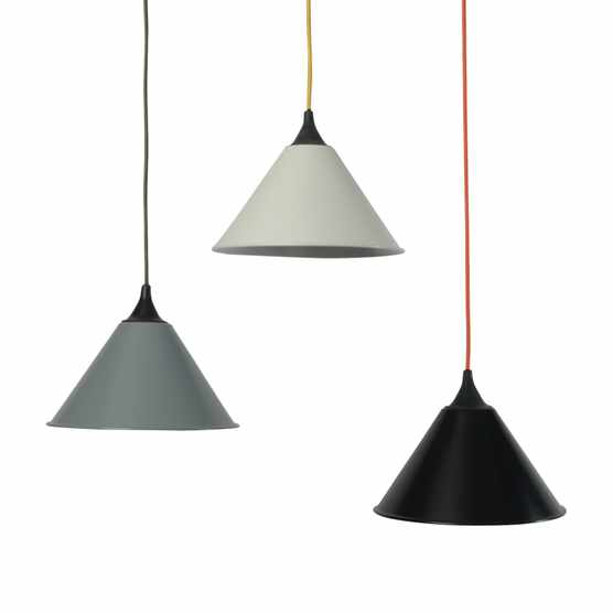 These pendant lamps were once part of the standard lighting kit installed in British Army tents. £72 each from Trainspotters