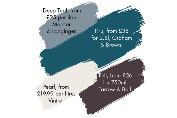 An array of paint colours to compliment blue