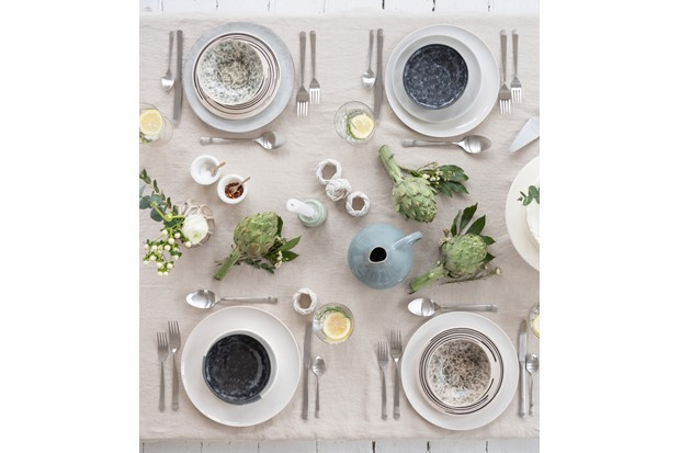 TROUVA Spring Tablescapes with Mismatched ceramics, styled by Anna Barnett