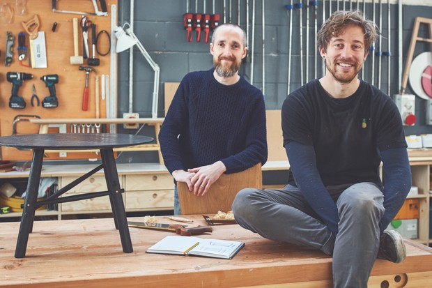 Furniture makers Noah and Ben