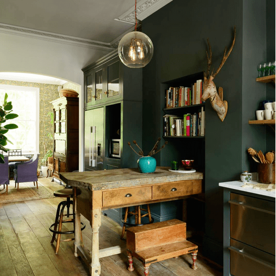 The Classic English kitchen by deVOL, starting from £25,000, gives an Islington townhouse a charming country feel.