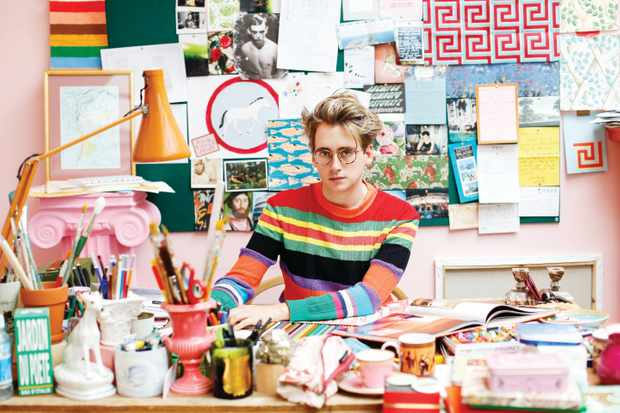 Luke Edward Hall in his studio