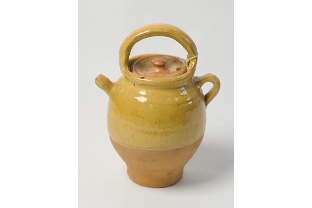 19th century stoneware olive oil jug
