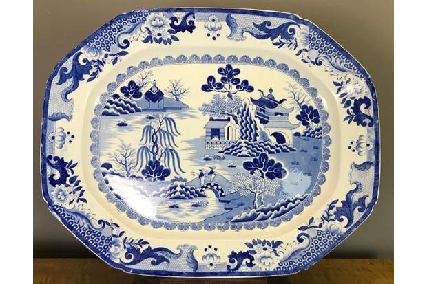 Mid-19th century ironware platter