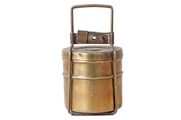 Small Brass Tiffin Box Set