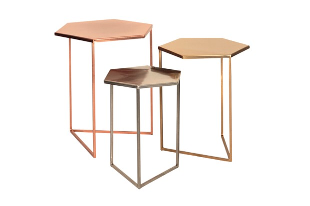 Metallic Hexagon Tables Oliver Bonas