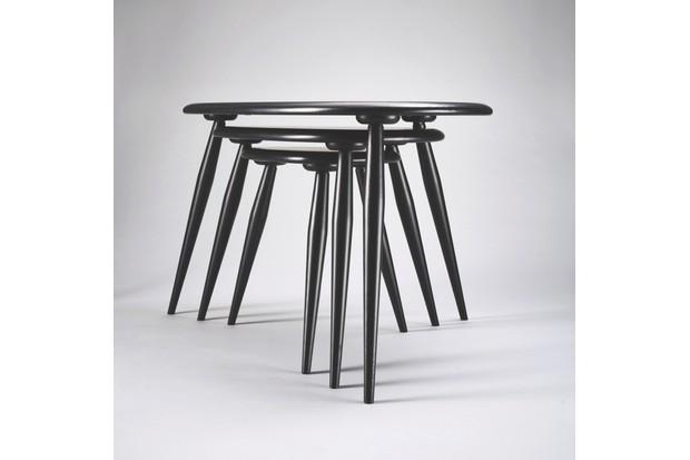Ercol table set shot on grey