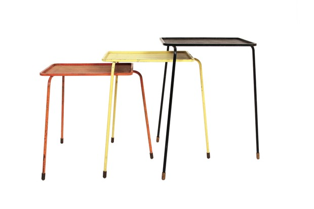 1950s French nesting tables by Mathieu Matégot for Atelier Matégot, £4,436, Pamono.