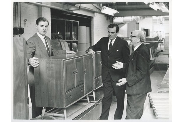 Lucian R Ercolani with his two sons in the dispatch area. Lucian B on the left and Barry in the middle